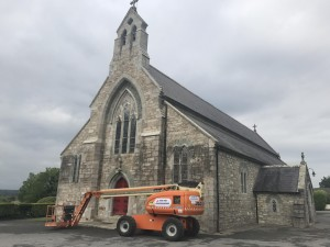Stone cleaned and protected at Barntown Church